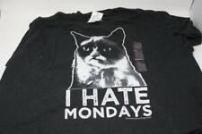 Grumpy Cat Black Men's T-Shirt TEE XXL I Hate Monday's Men's Shirts - B13