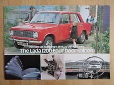 LADA 1200 SALOON orig c1976 UK Mkt Sales Leaflet Brochure