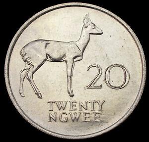 Zambia 20 Ngwee 1988 (GLIU-005A)