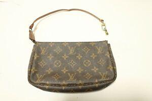 Authentic Louis Vuitton Monogram Pochette Accessories Pouch Bag  #7376