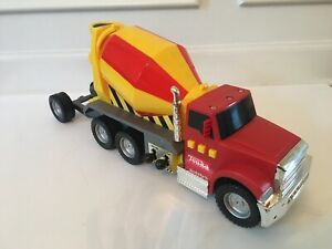 Tonka Truck Plastic Rare Striped Cement Mixer Sand Toy Sounds Construction NWOB