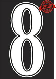 "FOOTBALL SHIRT NUMBER 9""  / SOCCER / RUGBY / IRON ON / HEATPRESS  Vinyl WHITE"