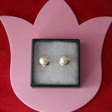 BEAUTIFUL 925 SILVER EARRINGS WITH FRESHWATER PEARLS 5.1 Gr.1.5  CM.LONG + HOOKS