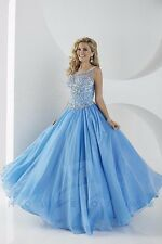 Tiffany 61151 Cornflower Blue Stunning Pageant Prom Gown Dress sz 6