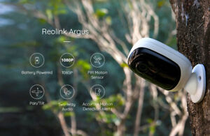 100% Wire Free Wireless Battery Powered Security IP Camera Reolink Monitor Argus