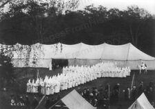 8x10 Print Ku Klux Klan Hooded Group Honored KKK Members Posed Cross 1924 #K103