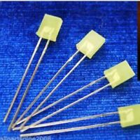 10pcs 2x5x7mm Rectangular Yellow Diffused LEDS With 12V Free resistors RDYL amy