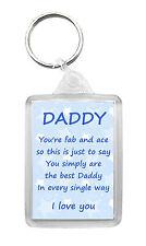 DADDY Keyring Keyfob 'I Love You' Poem Family Birthday Novelty Gift Keepsake
