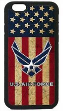 US Air Force USA Army Flag Black Case Cover for iPhone 4 4s 5 5s 5c 6 6 Plus