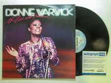"""Dionne Warwick Signed 'Hot! Live and Otherwise"""" Vinyl Album LP PROOF ACOA"""