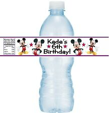 12 Mickey Mouse Clubhouse Birthday Party Baby Shower Water Bottle Sticker Labels