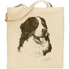 Bernese Mountain Dog Reusable Cotton Shopping Tote Bag.  Mike Sibley Print