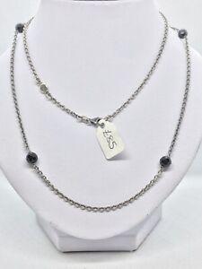 Genuine Pandora Oxidised Sterling Silver & Onyx Necklet 591013OXON-70