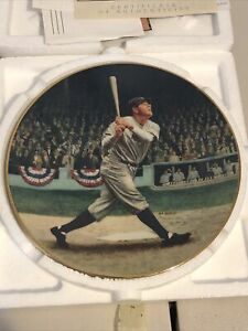 "BABE RUTH 8"" The Called Shot Delphi Collector's Plate The Legends Of Baseball"