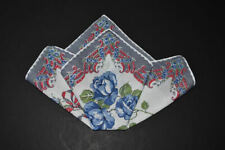 vintage handkerchief Cheerful Hanky flower Hand Rolled shabby cottage chic Charm
