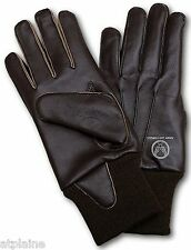 Gants moto cuir doublé ARMY AIRFORCES marron Taille S