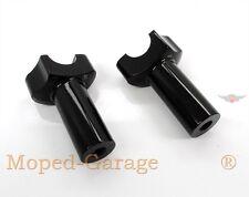 Harley Riser Black 3,5 Zoll gerade straight Offset Custom Lenker Halter Neu