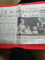 VINTAGE NEWSPAPER DAILY TELEGRAPH JUNE 3rd 1953 ELIZABETH II CORONATION SPECIAL