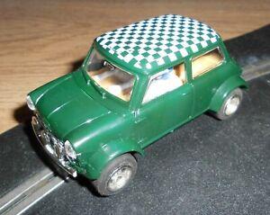 Rare vintage Scalextric C7 Mini Cooper rally touring car - superb