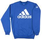 Adidas Performance Crewneck Sweatshirt Pullover Mens Royal Blue