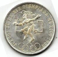 Mejico 25 Pesos 1968 PLATA Olimpiada 68 @ Sin Circular @