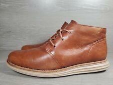 Cole Haan Lunargrand C13625 Sz 9M Brown Leather  Ankle Boots Mens Shoes (a1