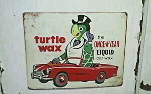 "Turtle Wax~once a year liquid ~12""x 15"" METAL Sign - Mancave Bar Mechanic Garage"