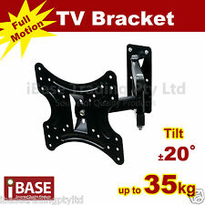 "17-37"" LCD LED TV MONITOR FLAT TILT TV WALL MOUNT BRACKET SWIVEL CORNER FREE"