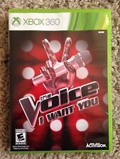 NEW The Voice: I Want You Karaoke Singing Game for Microsoft Xbox 360 *Sealed*