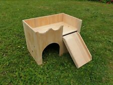 LARGE CASTLE SHELTER TWO TIERED RABBIT HOUSE HIDEAWAY 20''x'12'x14''