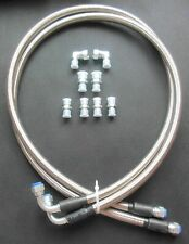 """-6AN SS Braided Transmission Cooler Hoses Fittings TH350 700R4 TH400 52"""" Length"""