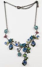 Beautiful Enamelled Flowers and Butterflies Swarovski Set Necklace