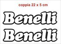 Adesivi Benelli Stickers decals 2 pz logo moto carena serbatoio coppia bike