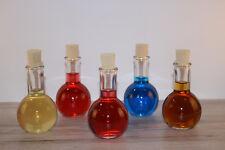 5 leere Glasflaschen, Schnapsflaschen,  Likörflaschen 100 ml für Obstler, Likör
