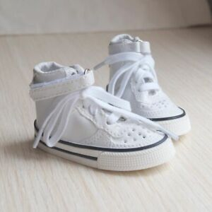 "White Synthetic Leather Sneakers Shoes For 1/3 24"" BJD SD AOD AS DOLL G&D"