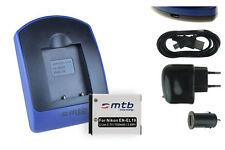 Baterìa+Cargador (USB) EN-EL19 para Nikon Coolpix S4200, S4300, S5200