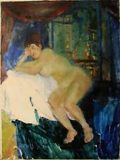 Russian Ukrainian Oil Painting nude figure portrait woman postimpressionism