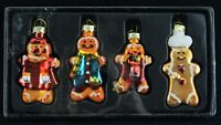vintage glass style christmas gingerbread men decor bauble gisela graham new