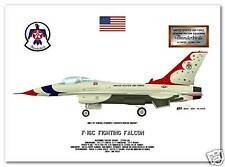 USAF Thunderbirds F-16 Flight Demonstration Team Print