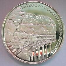 Mongolia 1995 Railway 2500 Tugrik 5oz Silver Coin,Proof