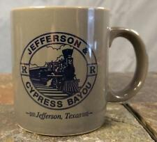 Jefferson, Texas TX Jefferson Cypress Bayou Railroad Steam Engine Coffee Mug Cup