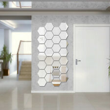 12x DIY Acrylic Modern Mirror Decal Art Mural Wall Stickerr Removable QA