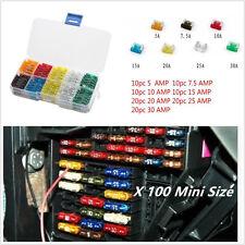 100pcs 7 Sizes Car Mini Low Profile Fuse Box 5 7.5 10 15 20 25 30 Amp Fuse Kits