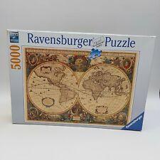 5000 Pieces Ravensburger Jigsaw Puzzle Antique World Map No.174119 Unopened Bag