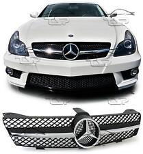 Frontal negro cromo parrilla Para Mercedes CLS C219 04-08 AMG BUSCAR Alerón 219031