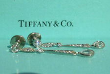 TIFFANY & CO. ART DECO LEGACY PLATINUM 1.36TCW DIAMOND PEAR SHAPED DROP EARINGS