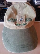Tred Avon Yacht Sales Heron Embroidered Oxford, MD Cap Boating Sailing Leather