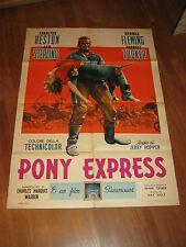 MANIFESTO,1953,PONY EXPRESS,BUFFALO BILL,Hickok,Charlton Heston,Tucker,Hopper