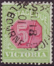 VICTORIA POSTAGE DUE 5/- RED AND GREEN - ASC D20 FINE USED CMV $150 (A12094)