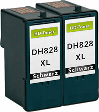 2x XXL TINTEN PATRONEN DH828 CH883 für Dell 966 968 A966 A968 DRUCKER PATRONEN